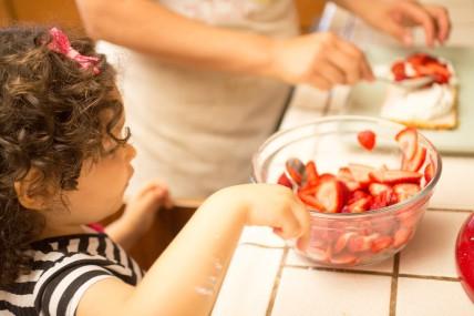 Making Strawberry Shortcake