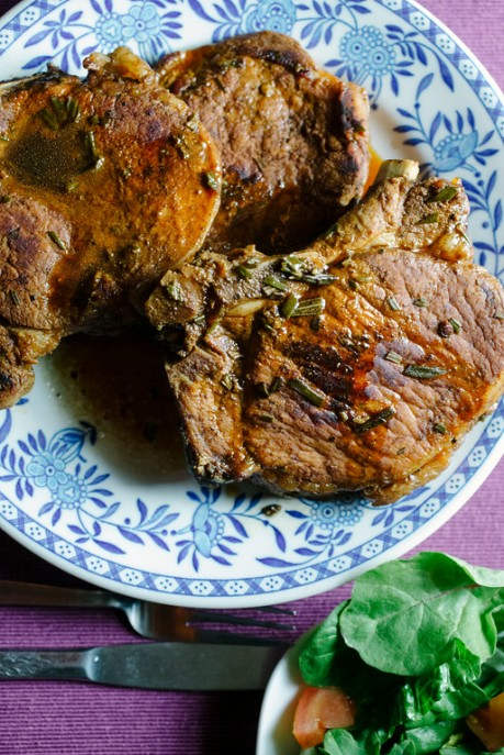 Rosemary and Balsamic Porkchops