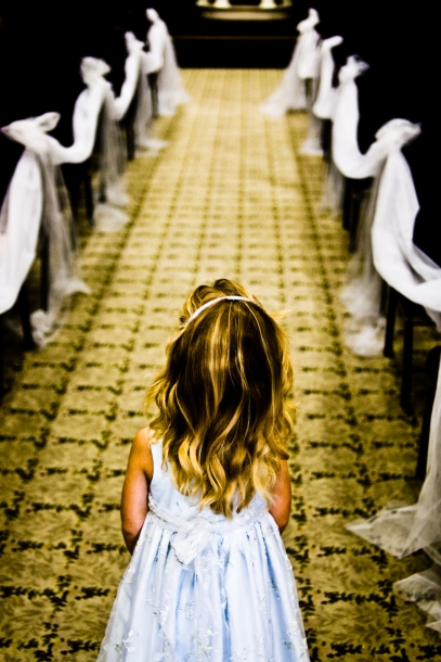 Flower Girl Looking Down Aisle - MattgGeorge.me