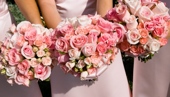 Pink Bridal and Bridesmaids' Bouquet - MattGeorge.me