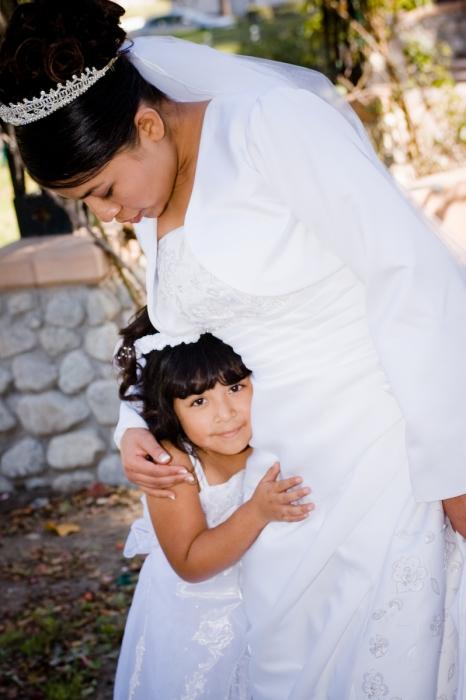 Flower Girl and Bride After Ceremony - MattGeorge.me