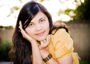 Yellow Shirt on Lady Portrait