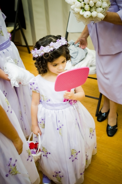 Flower Girl Looking in Mirror