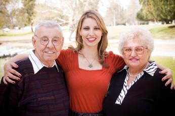 Daughter and Parents Portrait