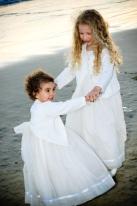 Sisters at Beach at Wedding