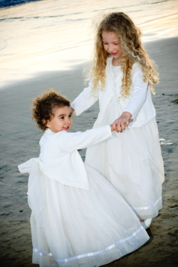 Sisters at Beach at Wedding
