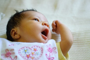 Close-up of Baby Yawning Portrait
