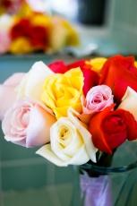Multi-Colored Wedding Rose Bouquet - MattGeorge.me