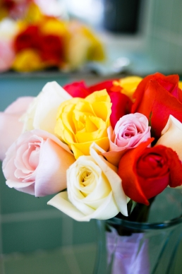 Multi-Colored Wedding Rose Bouquet - MattGeorge.me