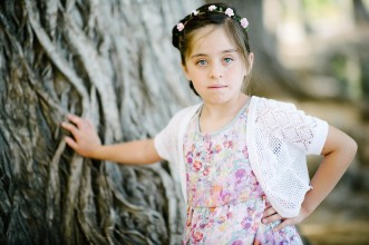 Girl and Big Tree Portrait