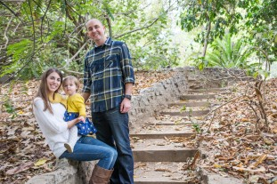 Family and Walkway Portrait in Woods
