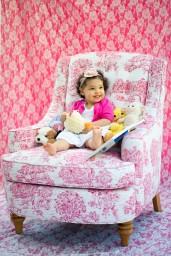 Child on Big Chair Portrait