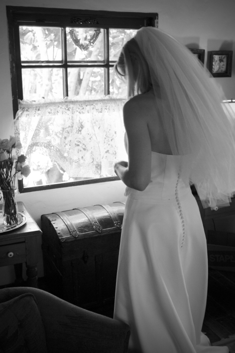 Bride Standing Near Window with Breeze - MattGeorge.me