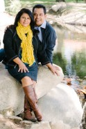 Couple Portrait in Front of Stream